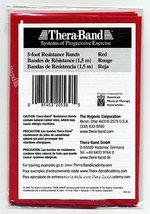 THERABAND RESISTANCE BAND RED MEDIUM - SINGLE